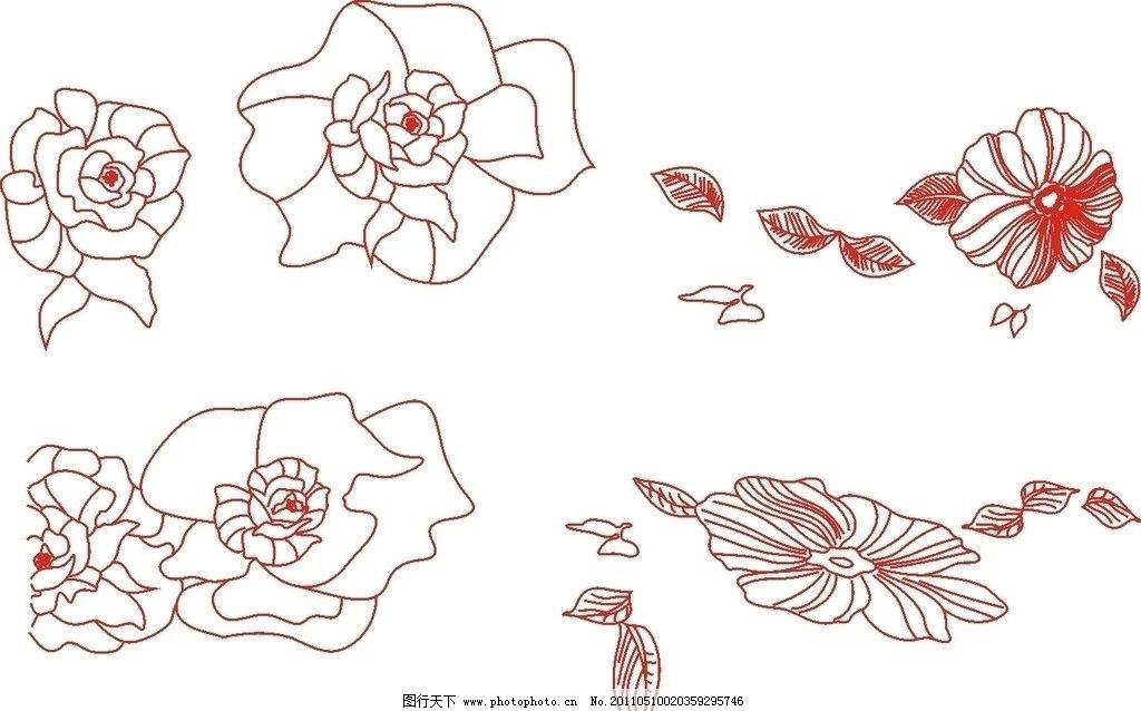 线条花纹枝叶图片