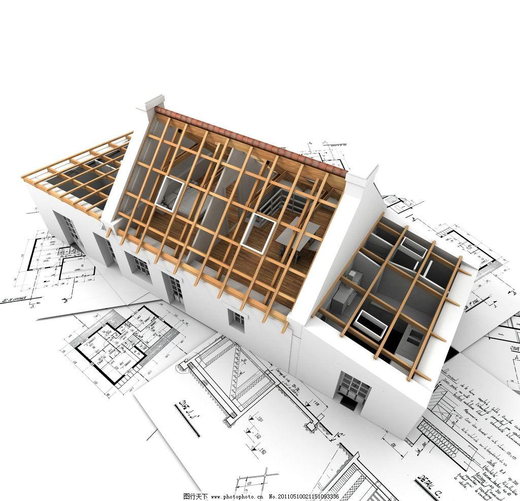 3d建筑模型图纸 建筑设计 建筑图纸 示意图 样板 别墅 模型 住宅 图纸