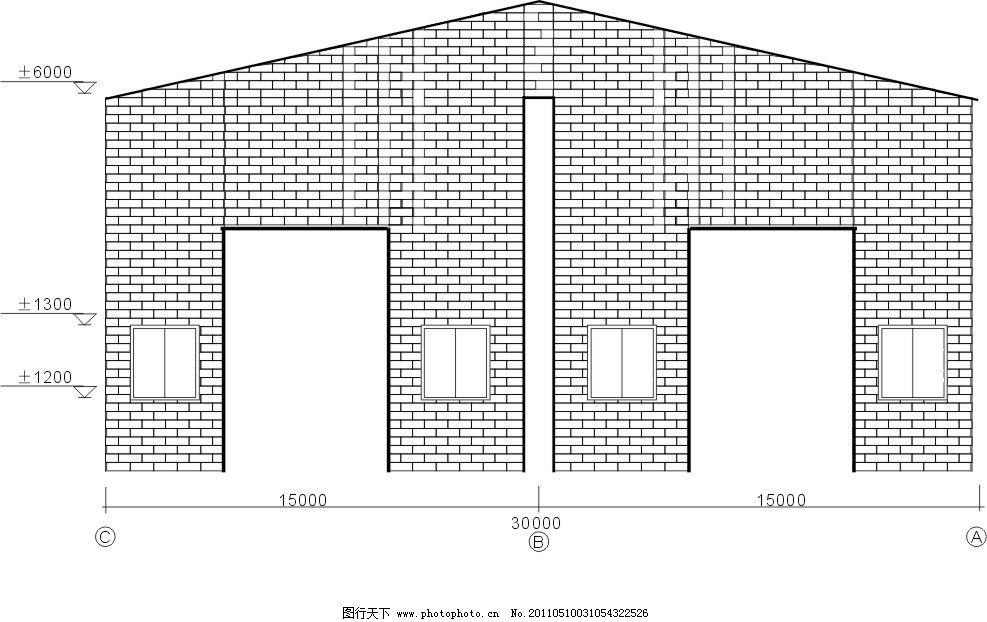 钢结构工程墙檩条布置图 梁柱 门 墙面 窗户 其他设计 广告设计 矢量