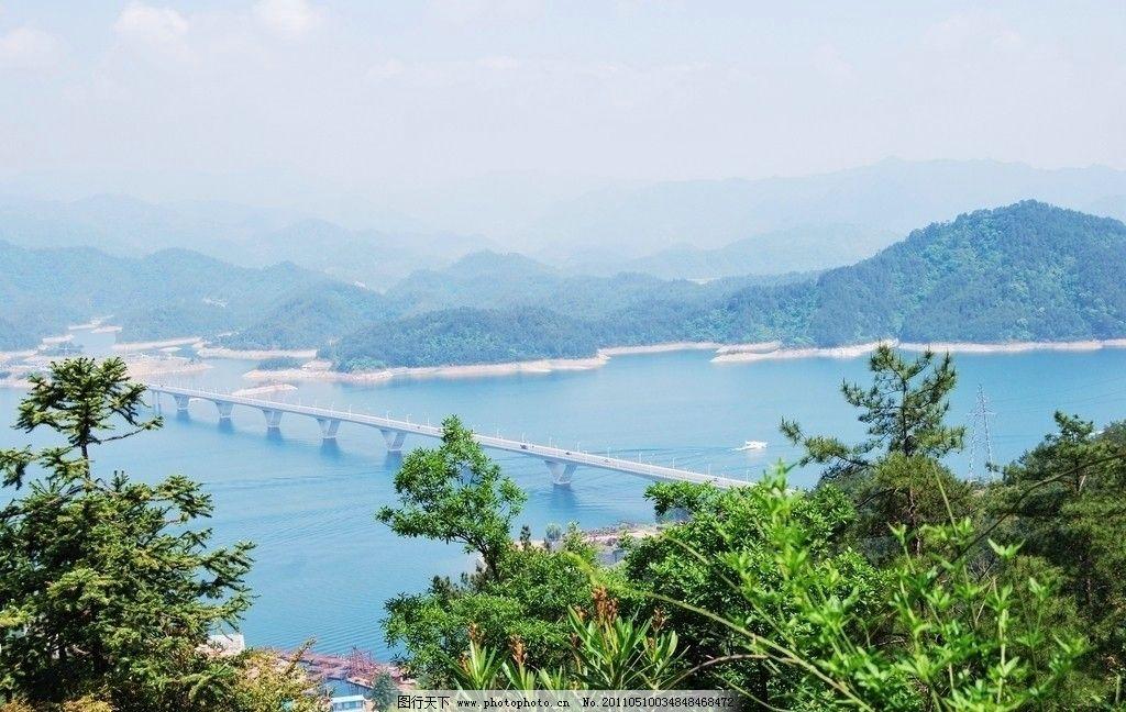 俯瞰千岛湖大桥图片