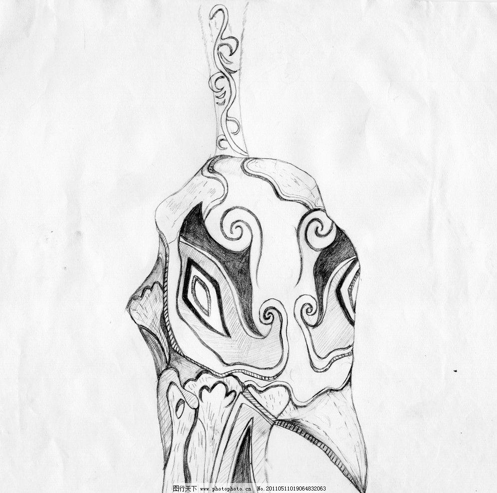 鸟头的设计 孔雀头 绘画书法 文化艺术 设计 300dpi jpg