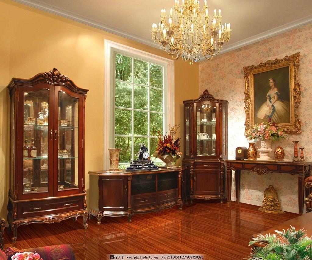 客厅效果图 欧式家居 灯