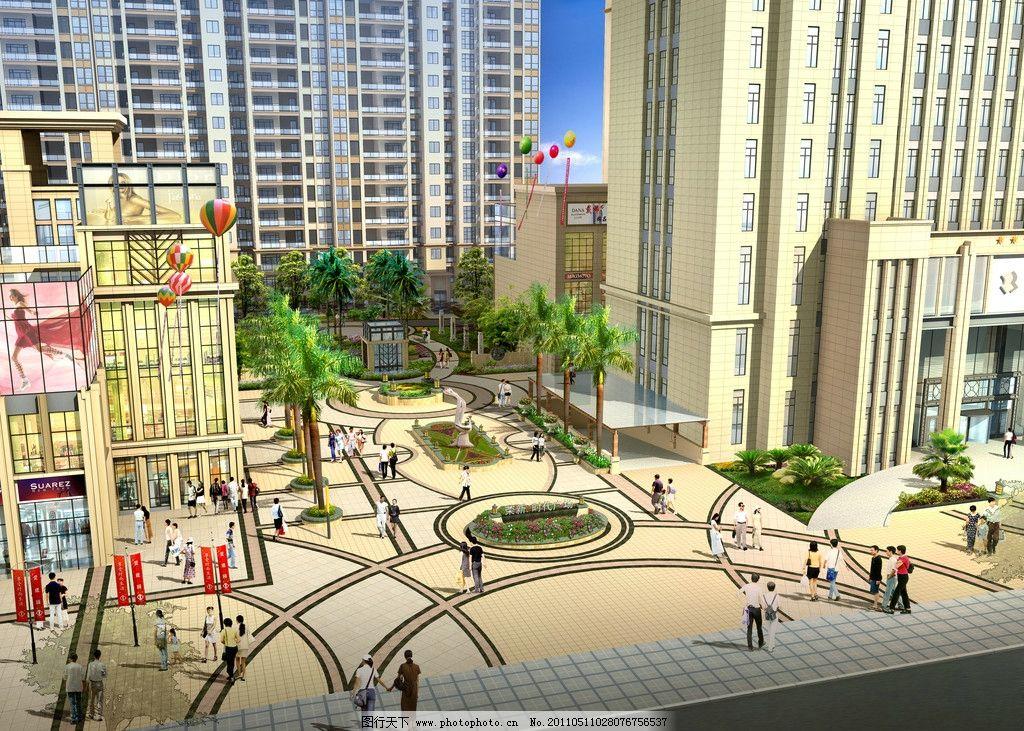 屏山时代广场小区入口 荣新 屏山时代广场 景观        建筑设计 环境