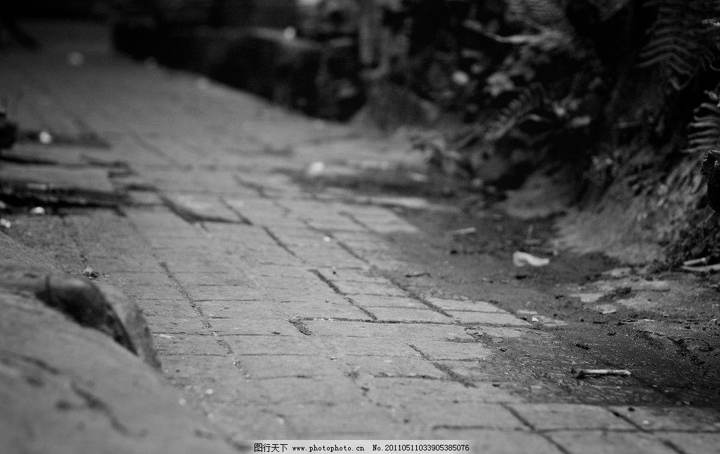 重庆十八梯 老街 黑白照片 石板路 国内旅游 旅游摄影