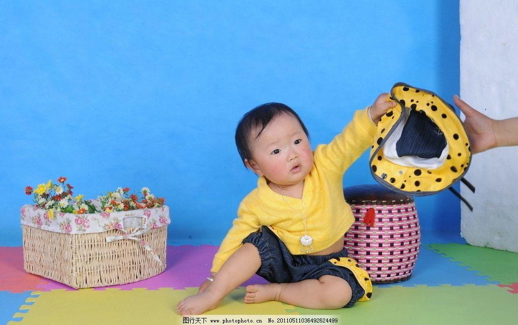 1岁宝宝照片图片,儿童幼儿 人物图库 摄影-图行