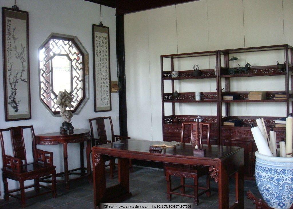 古风古韵 古典室内摆设 桌椅 窗户 书架 室内摄影 建筑园林 摄影 72