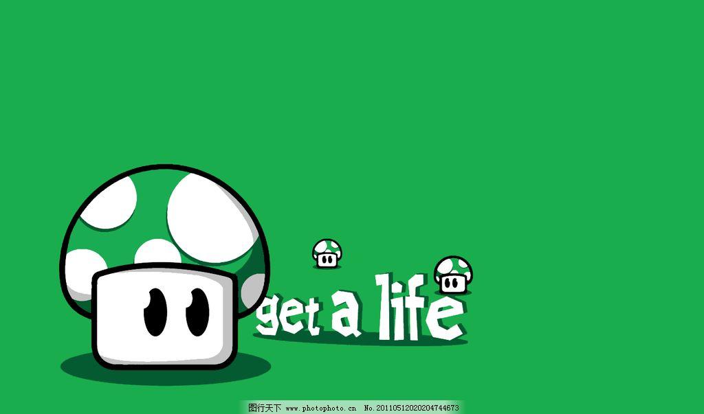 墙纸 wallpaper 壁纸 背景 可爱 蘑菇 绿色 life 超级玛丽 动漫 角色
