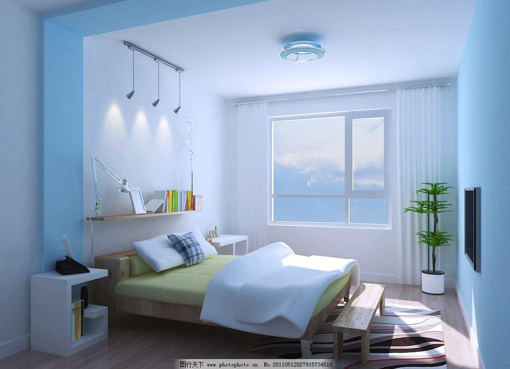 卧室效果图      床头背景 地板设计 摆设 室内设计 环境设计 设计