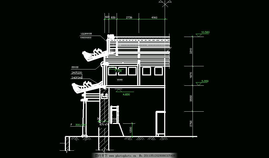 cad 图纸 平面图 素材 装修 装饰 施工图 室内设计 古建筑 廊架 景观