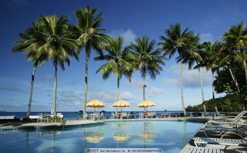帕劳 科罗岛 国际度假村 早晨 海边图片