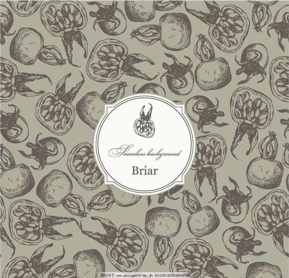 水果古典花纹底纹图片