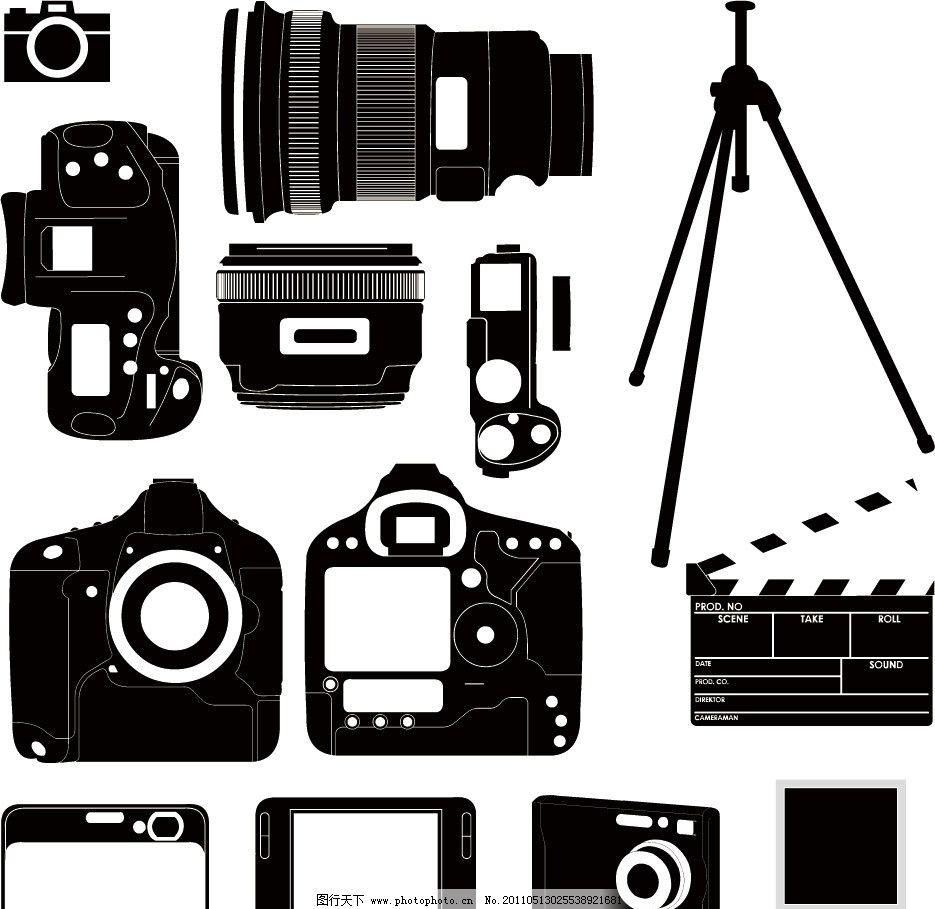 影视相机剪影 镜头 数码相机