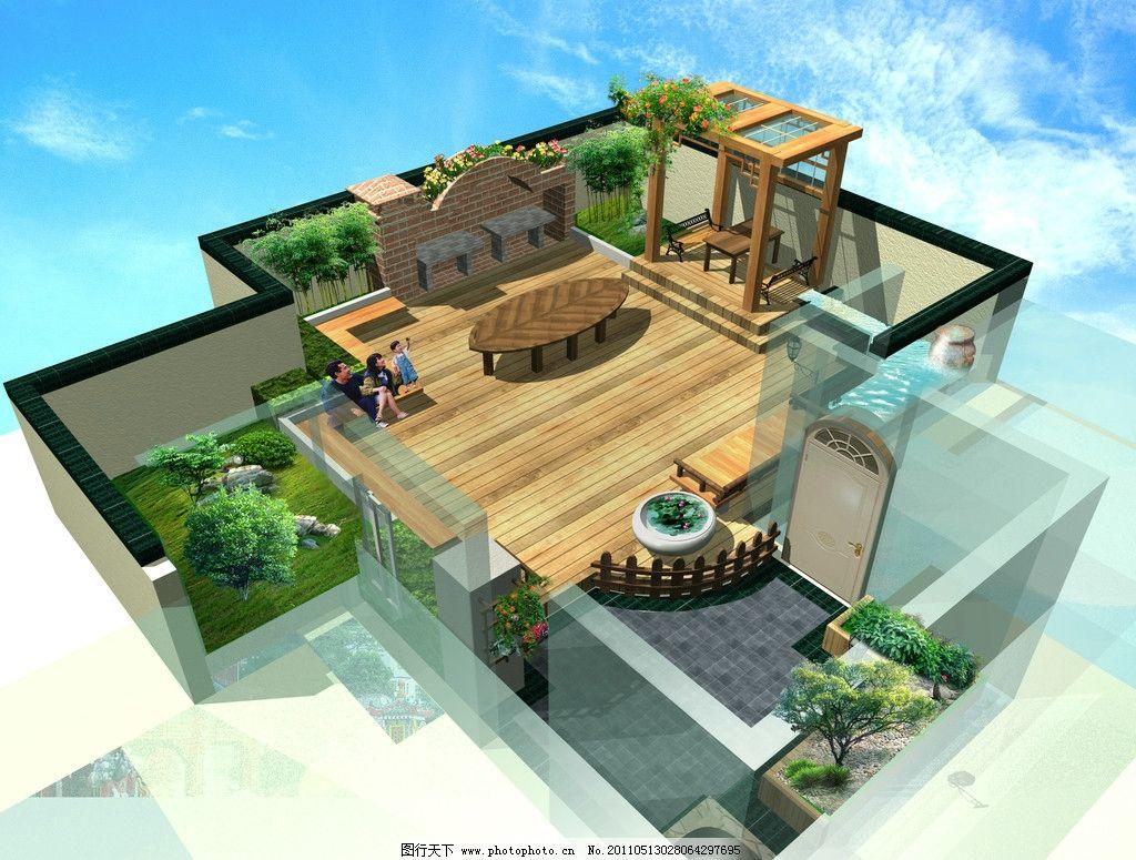 庭院效果图        小庭院 居民房 建筑设计 环境设计 设计 180dpi jp