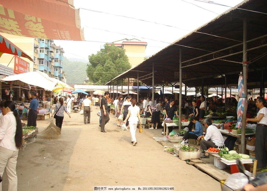 农贸市场 大棚 交易场所 菜市场 摄影图库 国内旅游