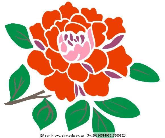 牡丹矢量图 牡丹 手绘牡丹 花草 生物世界 矢量 cdr