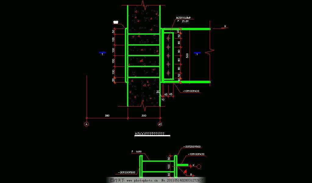 梁端铰接节点 cad 图纸 平面图 素材 装修 装饰 施工图 钢结构 网架