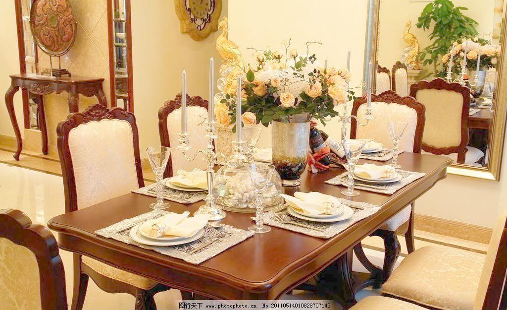 餐厅图片素材下载 餐厅 餐桌 餐具 欧式餐厅 欧式餐桌 西餐 欧式餐具