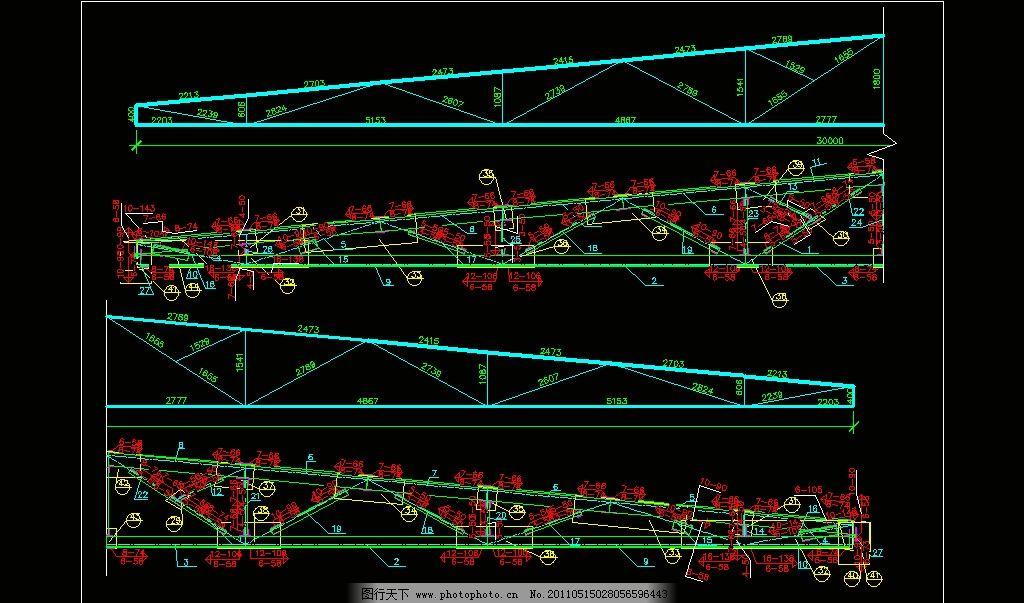 21m跨梯形钢结构pkpm施工图