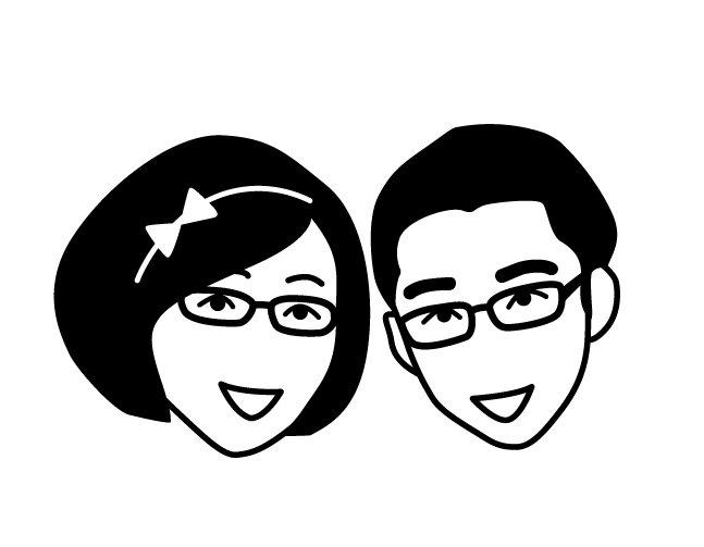 卡通人物 头像 夫妇 可爱 卡通人物免费下载 黑白矢量图 可爱人物