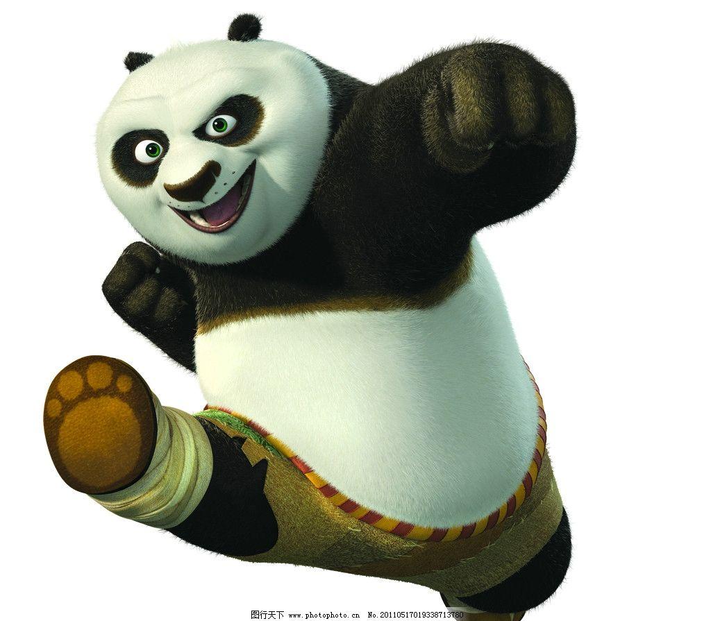 功夫熊猫 人物素材 动漫 动漫素材 打拳 跑步 可爱 影视娱乐