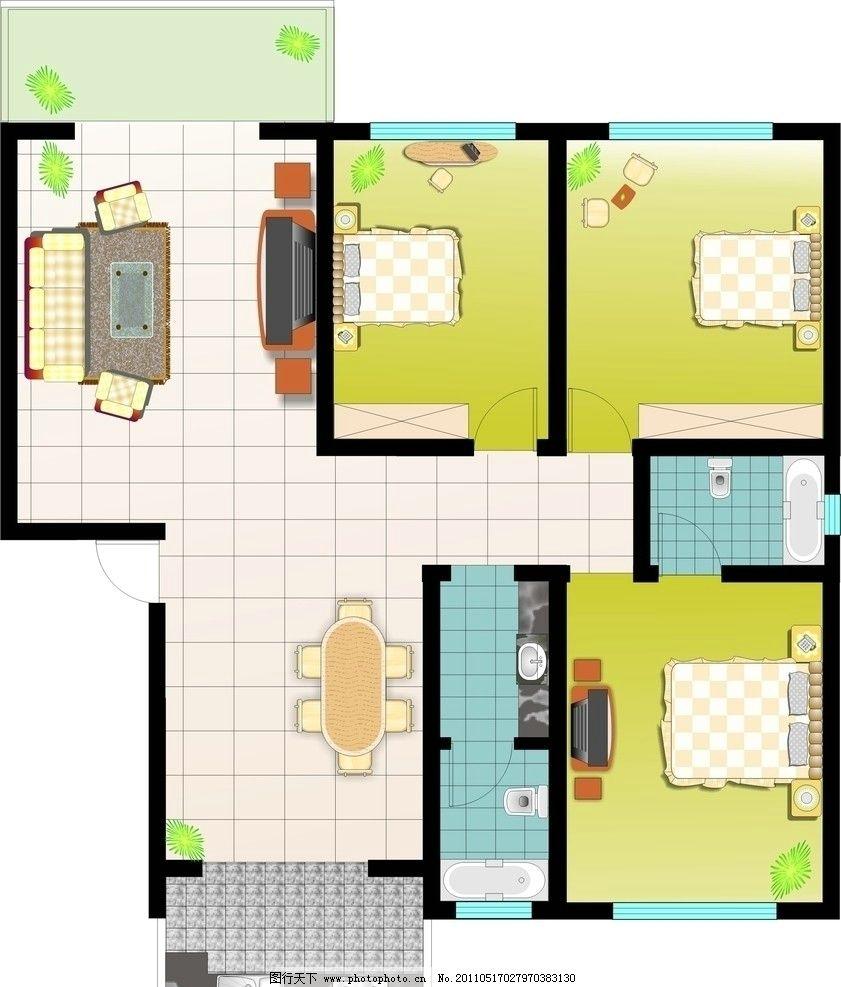 家装平面图 室内平面图