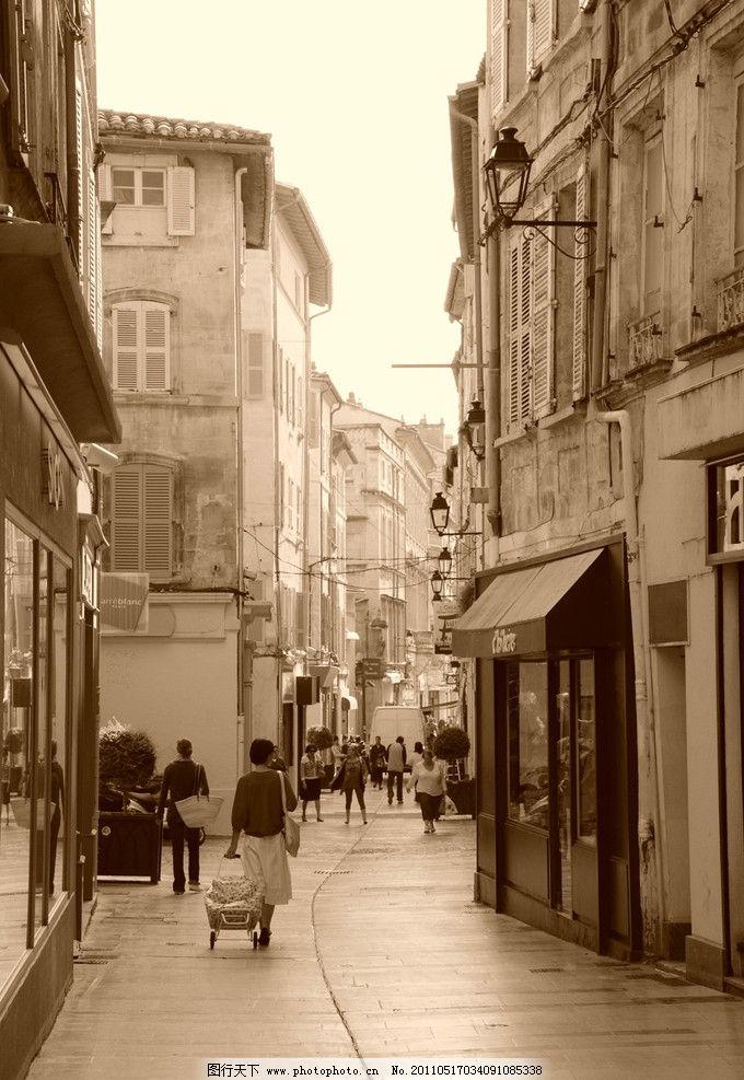 南法小镇街景 法国 南部 小镇 街景 背影 怀旧 国外旅游 旅游摄影图片