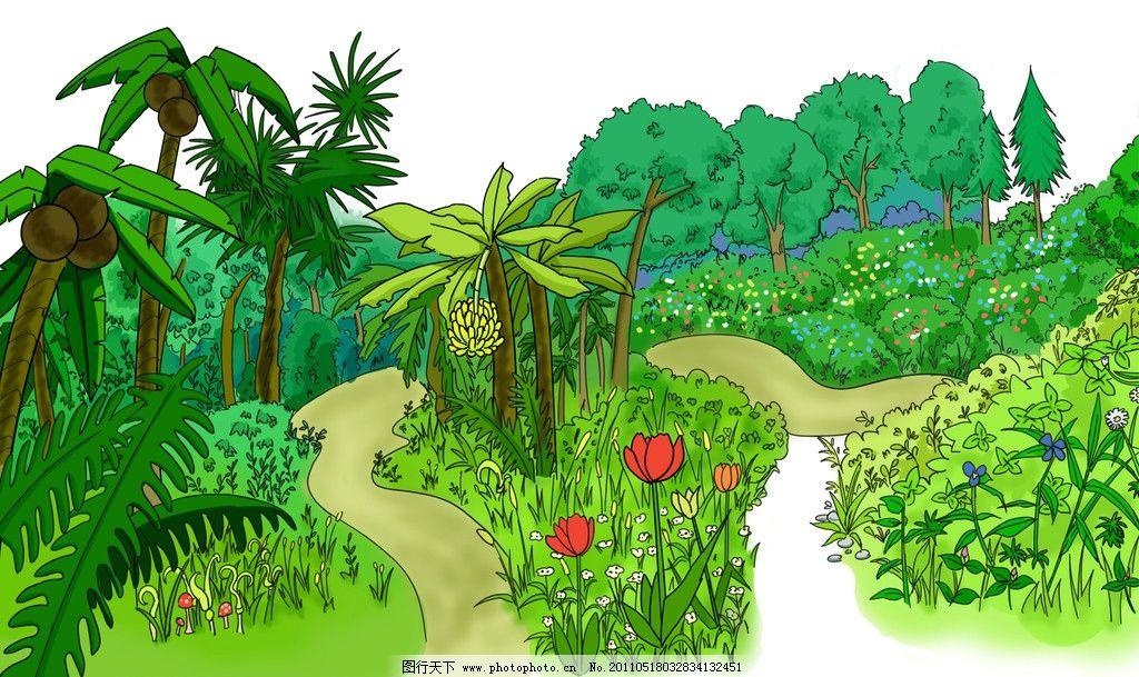 手绘图 树 植物