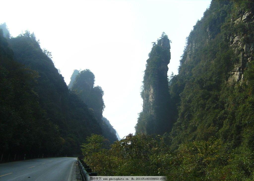 张家界公园 湖南 张家界 森林公园 百丈峡 风景 山峰 景区内 国内旅游