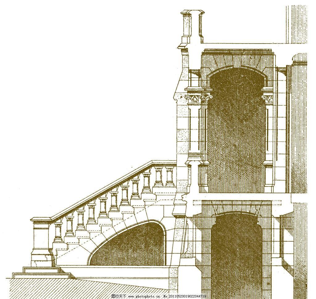 欧式手绘复古建筑图片