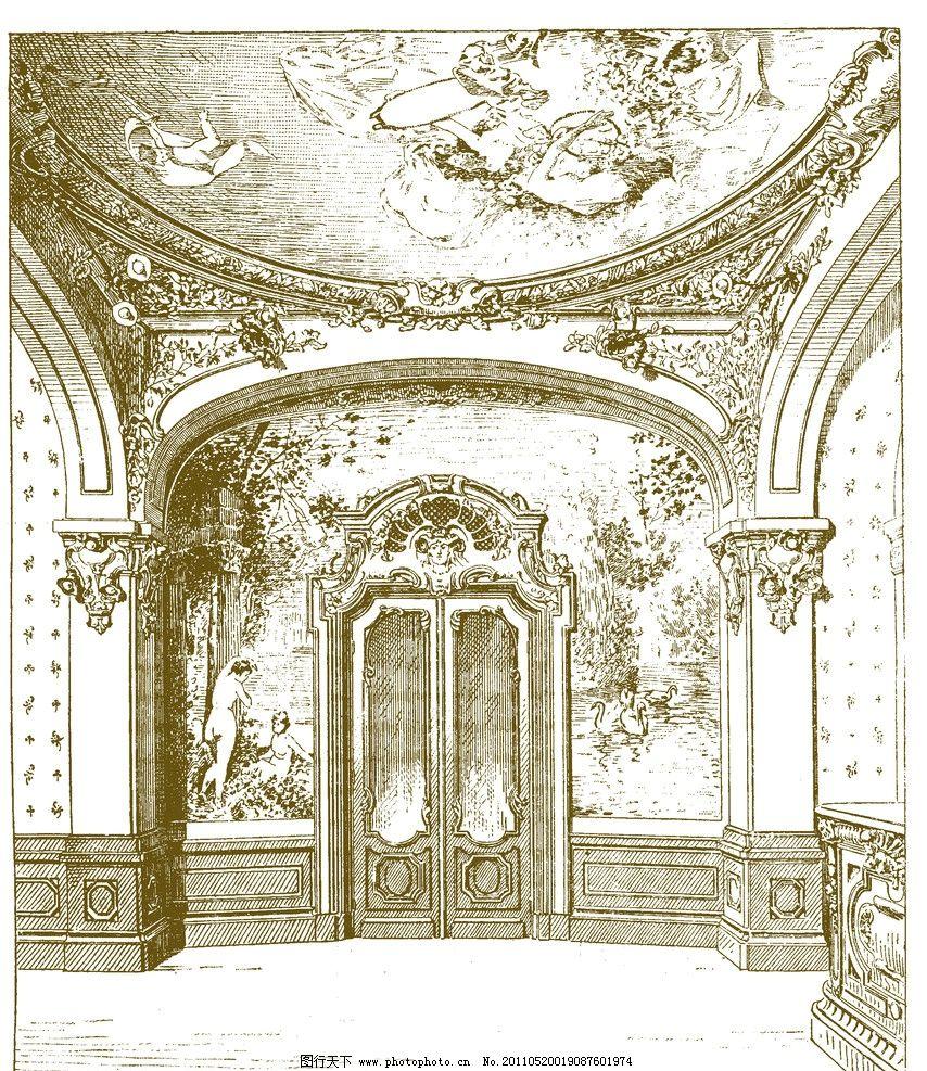 手绘欧式建筑 欧式建筑