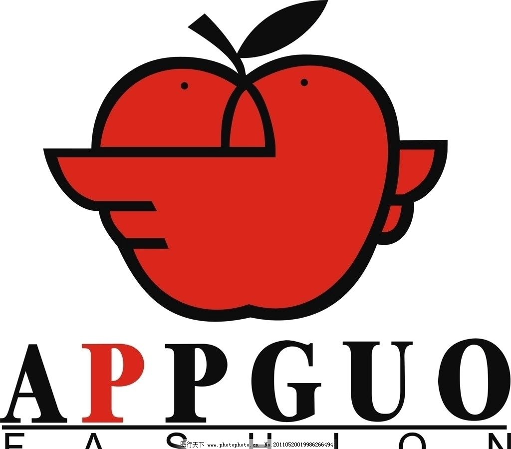 苹果appguo 企业logo标志 标识标志图标 矢量 cdr