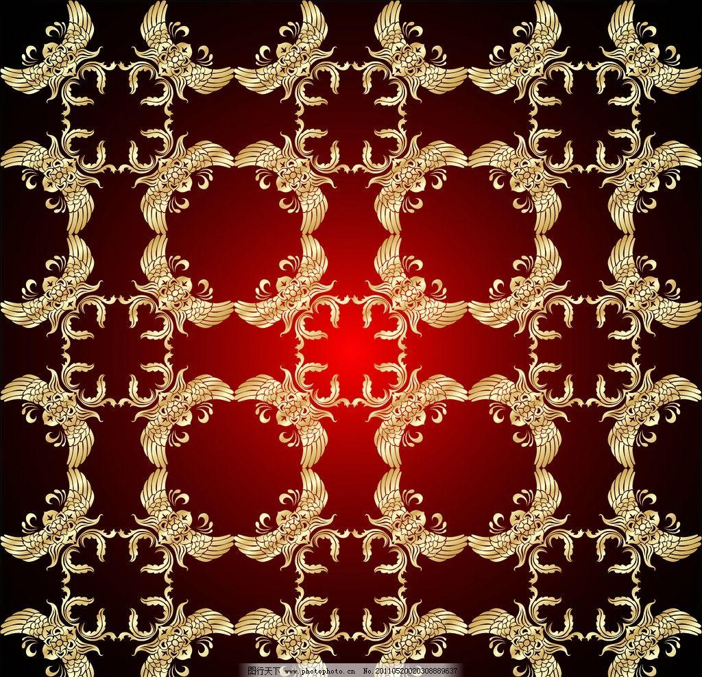 欧式金色花纹 欧式古典花纹