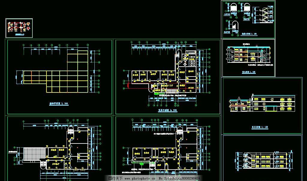幼儿园建筑结构图图片
