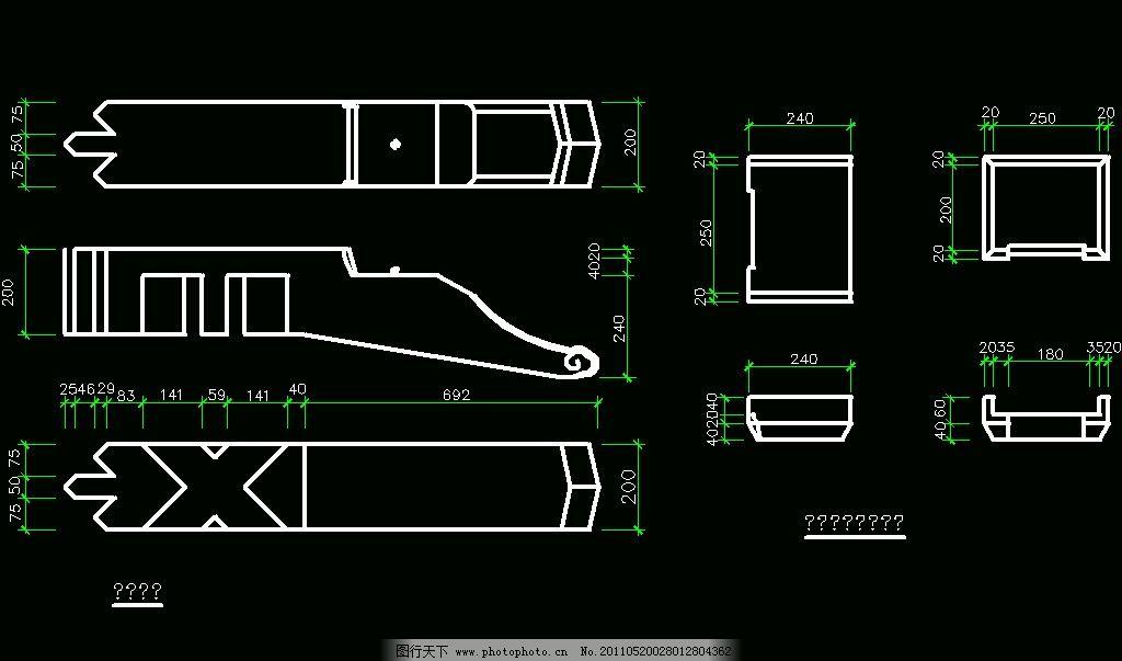 斜斗昂 cad dwg 图纸 平面图 素材 装修 装饰 施工图 室内设计 古建筑