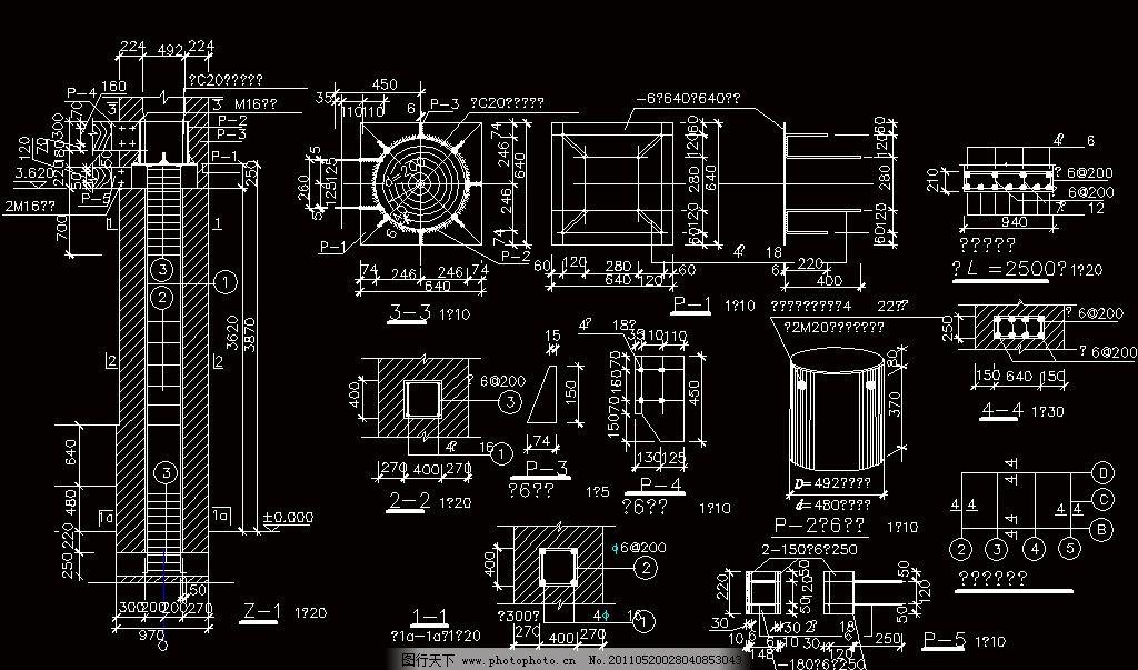 圈梁过梁2 cad dwg 图纸 平面图 素材 装修 装饰 施工图 室内设计 古