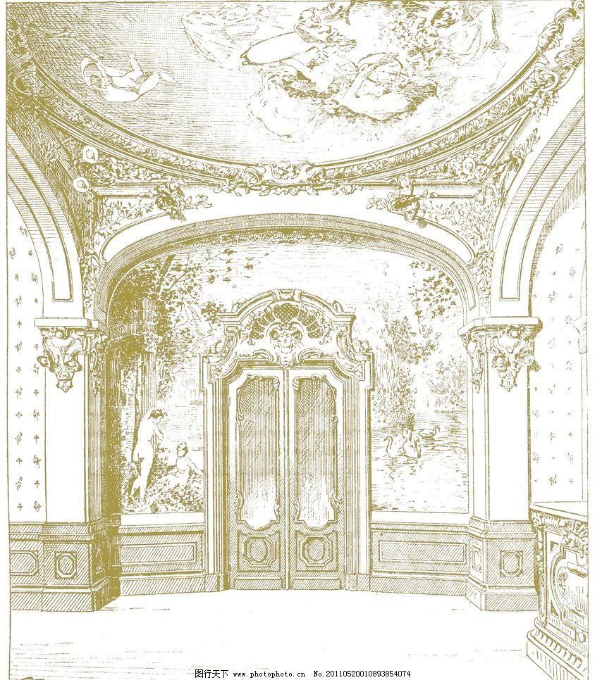 欧式建筑 手绘画法 建筑