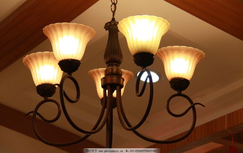 吊灯 天花板吊灯 花型吊灯 欧式 生活素材 摄影