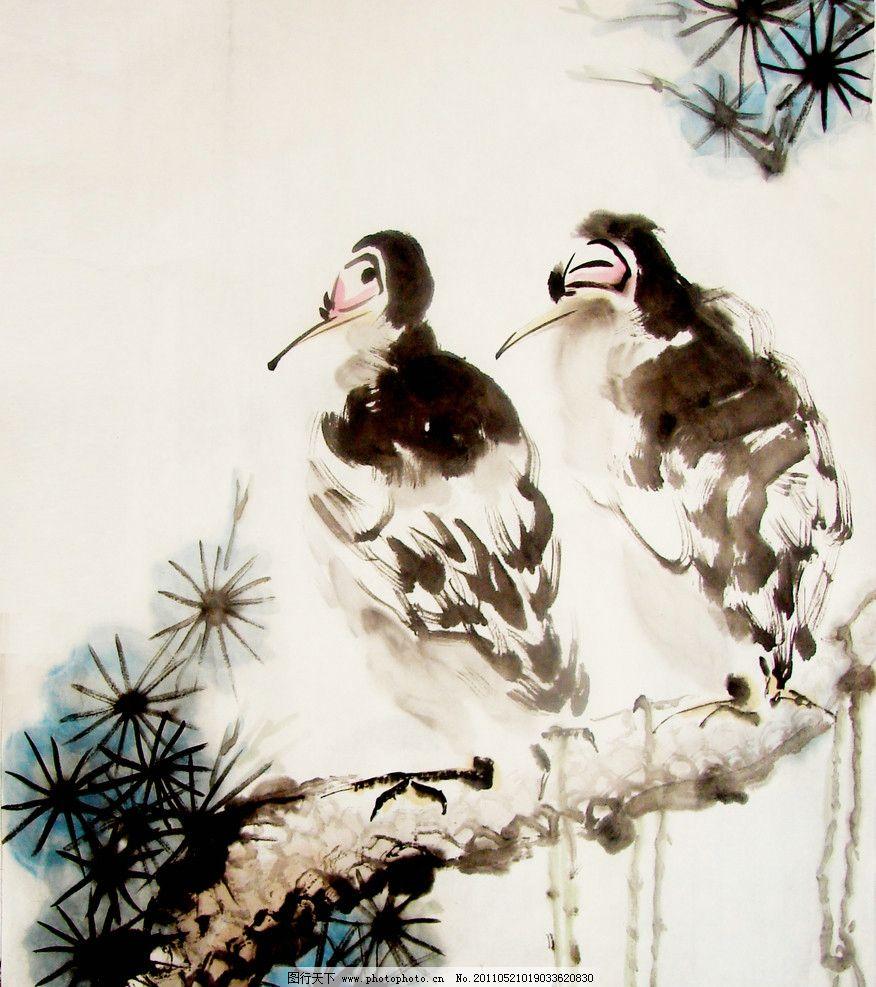国画松树 鹰 国画 书画 松树 绘画书法 文化艺术 设计 72dpi jpg