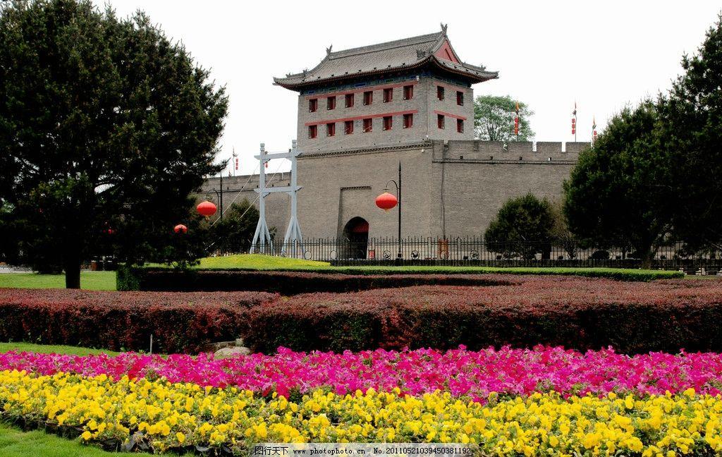 西安古城门楼图片