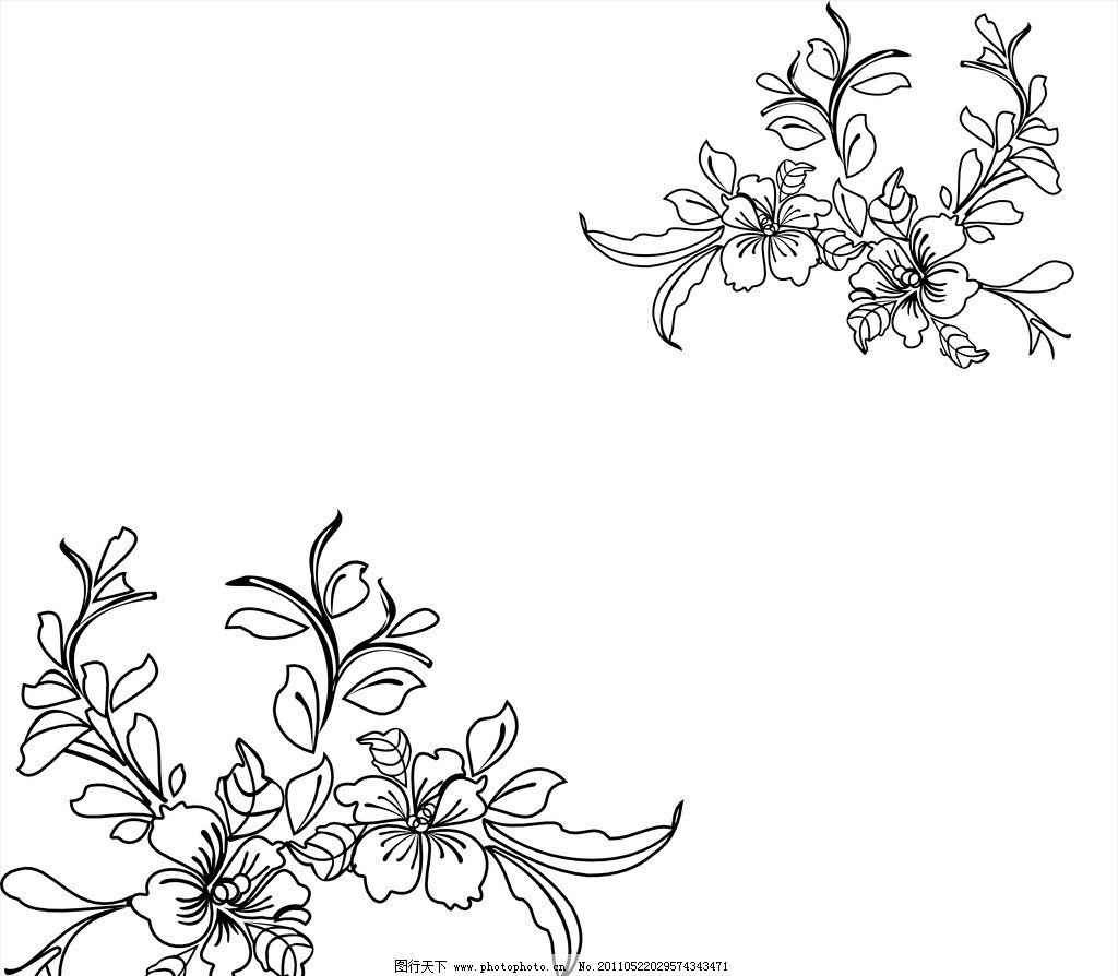 玻璃雕花 雕花 玻璃 喷砂 花朵 矢量图 黑白 广告设计 矢量 cdr