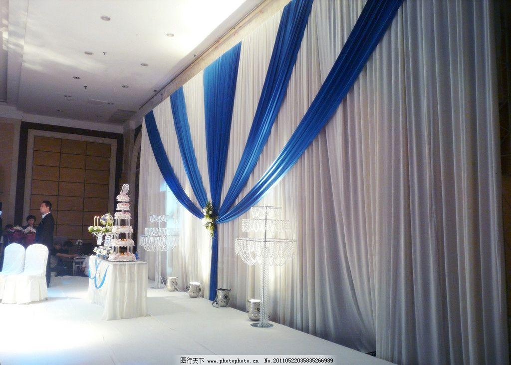 婚礼舞台背景 蓝色 欧式 节日庆祝 文化艺术 摄影