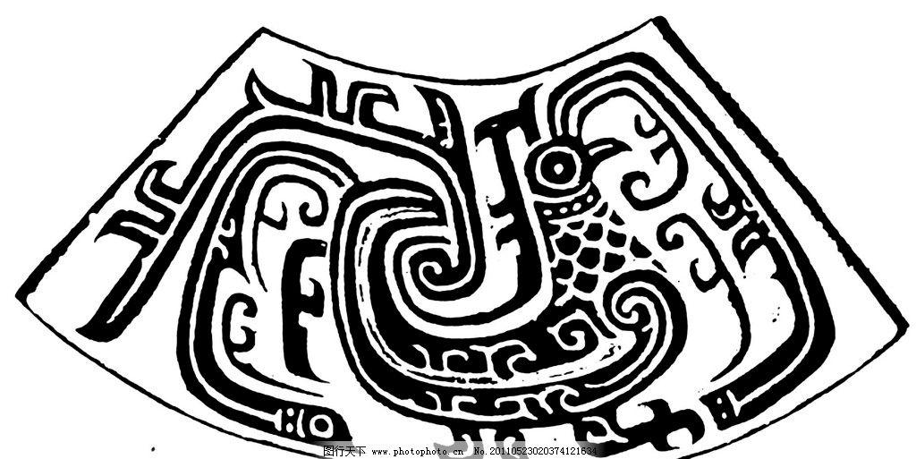 中国传统纹样 春秋 中式 文物 古典 纹样 花纹 黑白 白描 线描 黑白稿