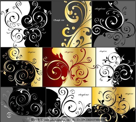 欧式花纹边框图片,华丽 花边 金色 高贵 古典 传统-图