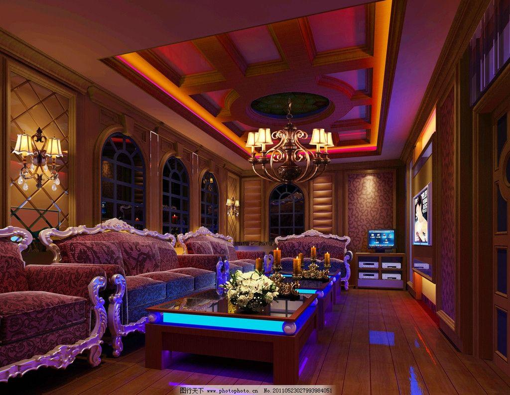 ktv大包房 欧式效果图 室内设计 环境设计 设计 72dpi jpg