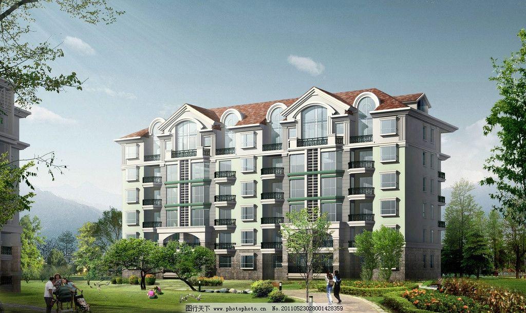 高清园林住宅效果图 园林景观 建筑设计 环境设计 设计 72dpi jpg