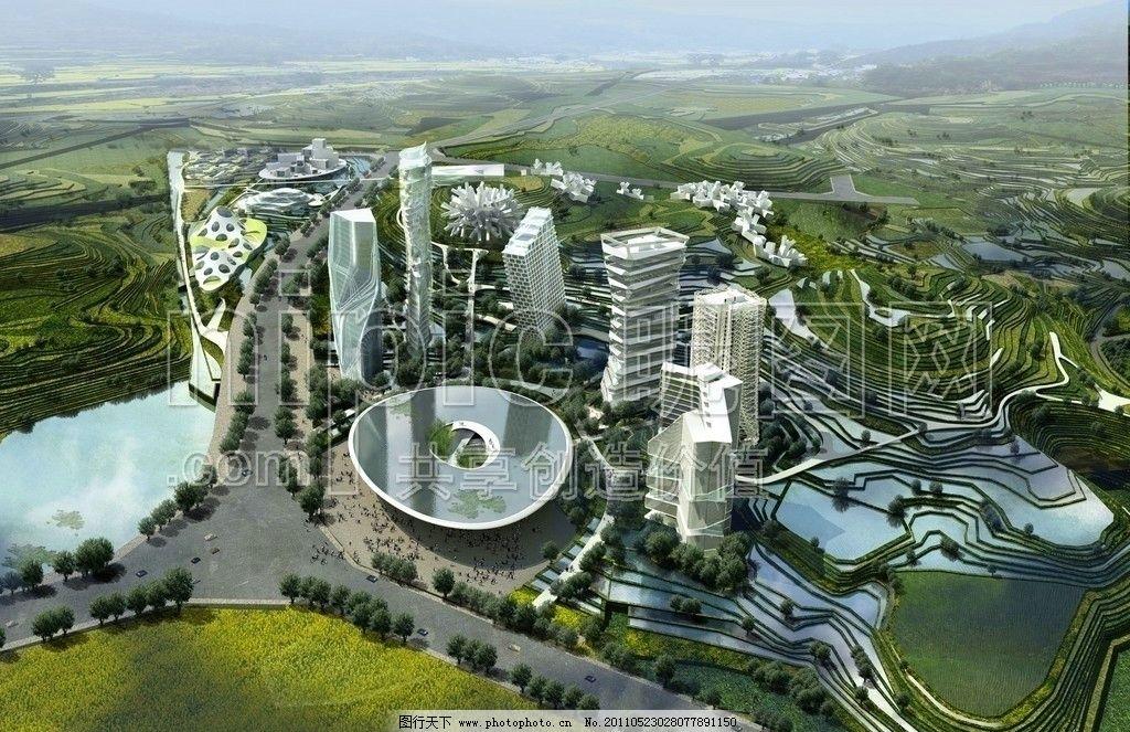 城市景观 建筑蓝图 建筑工程 商业效果图 商业街设计 模型 水晶石源文
