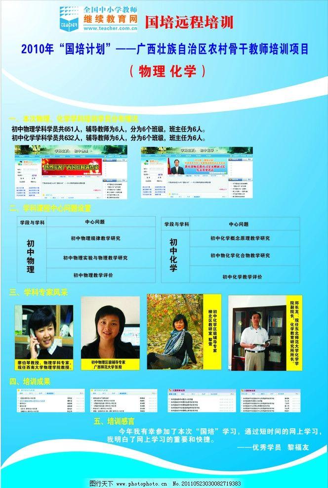 物理化学 远程国培 初中物理 初中化学 海报设计 广告设计 矢量 cdr
