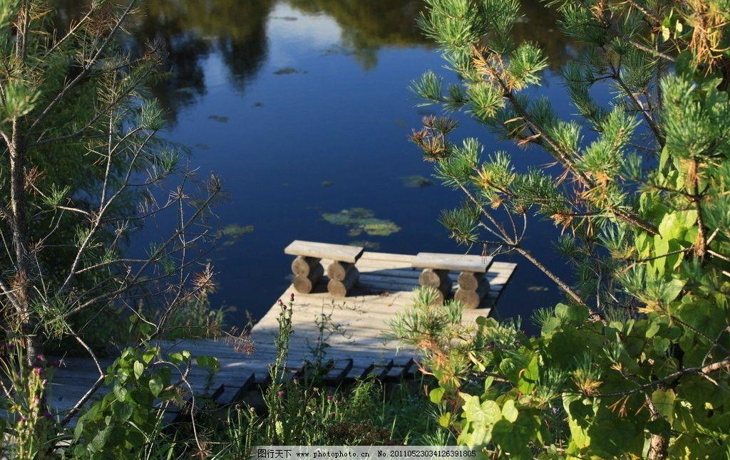 河边木椅 小河 木椅 沙洲 黑龙江 漠河 北极村 风光 风景 自然风景