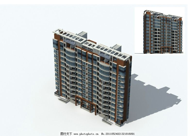 高层住宅MAX MAP图片_室外模型_3D设计_图