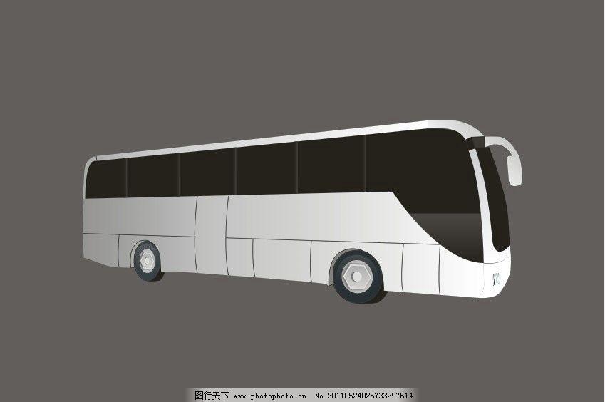 矢量大巴 大巴 汽车 vi素材 白色大巴 矢量文件 cdr 交通工具 现代